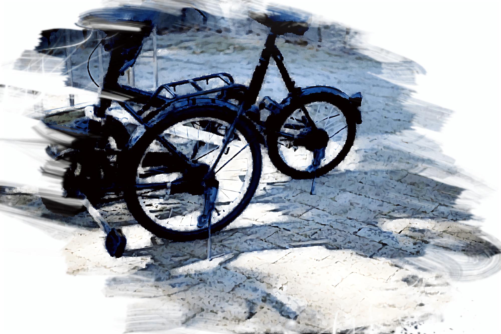 停まっている電動アシスト自転車