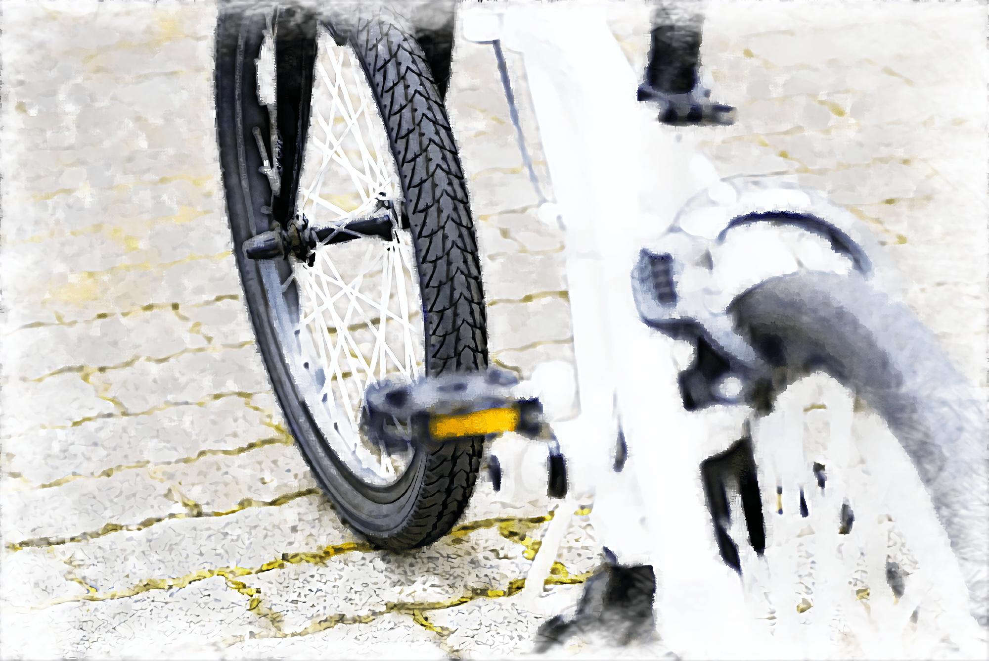 白いミニベロ