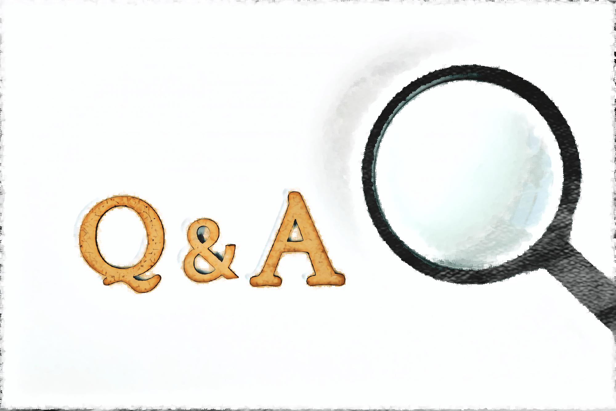 Q&Aの文字とルーペ
